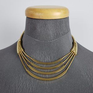 Vintage Monet Gold Layered Necklace